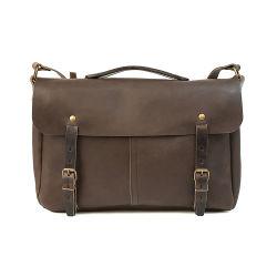 Good Quality Customer Design Brown Genuine Leather Bike Sport Messenger Bag