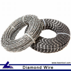 Stone Cutting Diamond Wire Cable with Rubber and Spring Coated