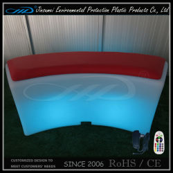 Factory Direct Price PE Material Plastic LED Furniture Bar Chairs