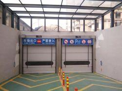 Belt Stacking Grey PVC Folding Exterior Roller Shutter Fold up Door for Underground Parking Garage & China Folding Stacking Doors Folding Stacking Doors Manufacturers ...