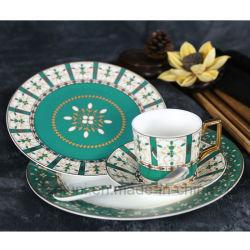 Green Malasia Disposable 5 Pieces Dinnerware Set