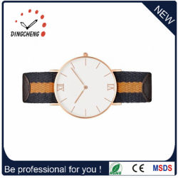 OEM Unsex Alloy Case Watch Fabric Strap Watches Wristwatch (DC-228)