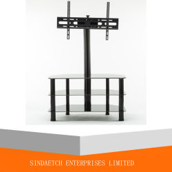 Wholesale Black Modern High Quality Glass TV Stand