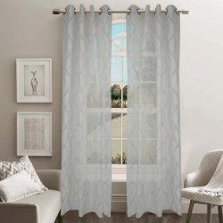 Jacquard Sheer Grommet Panel Window Curtain (HR14WT088)