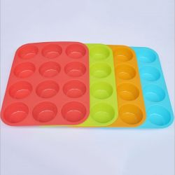 Food Grade Reusable Silicone Baking Cups Cupcake Muffin Cups Silicone Cake Moulds