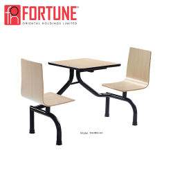 Wholesale Chinese Modern Design Wood Table for Restaurant/Canteen (FOH-CBC08)