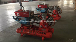 5bar Mobile Portable Piston Diesel Air Compressor with Air Tank
