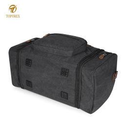 Men Canvas Sports Gym Bag Shoe Compartment Duffel Bag