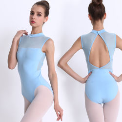 cc79994f02650 Factory Wholesale Fashion Women Dance Wear Sexy High Cut Mesh Burgundy  Ballet Leotard Adult