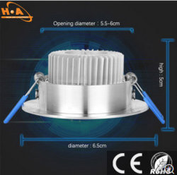 Indoor Aluminum Decorative Hall Downlight