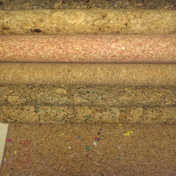Real Cork PU Synthetic Leather Fabric for Decoration (HS-BC08)