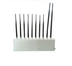 10 Antenna 10 Band 3G 4G GPS WiFi Lojack UHF VHF Signal Jamer