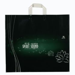 CPE Double Layer Plastic Loop Handle Bags for Promotional Gift (FLL-8381)