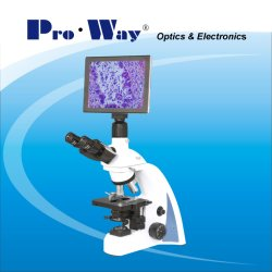 Professional Video Digital LCD Screen Biological Microscope with Software (N-PW300LCD)