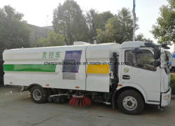 Dongfeng 6 Wheels Pavement Sweeper Truck 5m3 Sand Suction Truck