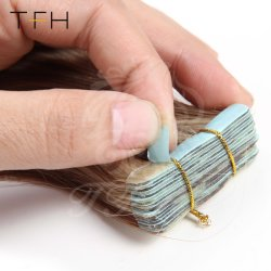 Tfh 18 Inches Double Drawn Tape in Human Hair Extensions Piano Color 20PCS Brazilian Human Hair Straight Skin Weft Hair Extensions
