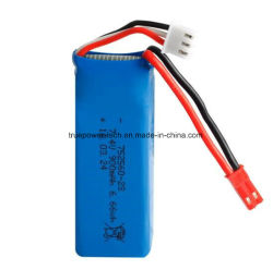 High Discharge Rate at 30c 7.4V 900mAh Li Polymer Battery for 4 Rotors Helicopter