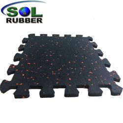 Certificated Wholesale Commercial Interlock Gym Mat Rubber Floor Tile