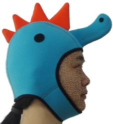 Cute Sea Horse Neoprene Hood for Diving (HX-H171011)