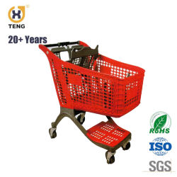 Pl175c Cheap Friendly Plastic Shopping Cart with Child Seat