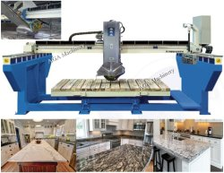 Granite Marble Stone Bridge Saw with Miter Head 45 Angle for Cutting Kitchen Tops (XZQQ625A)