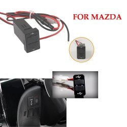 12V 5V ABS Dual 2 Port USB Charging Car Charger for Mazda Phone iPad USB Charger