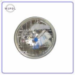12V or 24V 7 Inch Round Crystal Black Semi Sealed Beam