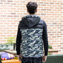 Wholesale and OEM Camo New Style Men Waistcoats for Outerwear