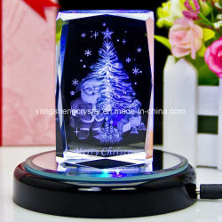 Christmas's Gifts 3D Laser Engraved Crystal