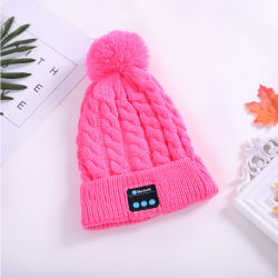 d1297112655 Factory Supply Bluetooth POM-POM Beanie Hat Wm5 Keep Warm Hat Earphone