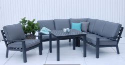 Aluminum Sofa Set Modern Outdoor Garden Patio Hotel Sets Leisure Aluminium Sofa Lounger Chair Furniture Outdoor Furniture Factory