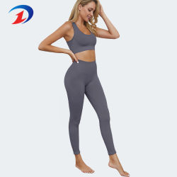 Women 2 Piece Outfits Leggings+Sports Bra Seamless Yoga Set