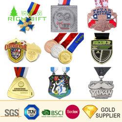 Wholesale Cheap Custom Metal Zinc Alloy Soft Enamel Heart Shaped Carnival Medals with Blank Ribbon