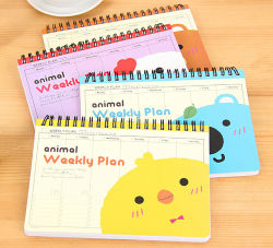 Printing Weekly Plan Book with Coil Bingding