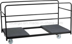 Folding Table Trolley With Carpeted Platform For Round Tables (C8901 1)