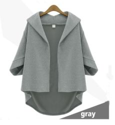 High Quality Popular Japanese Poncho Coat, V-Neck Batwing Loose Warm Ladies Cape Coat