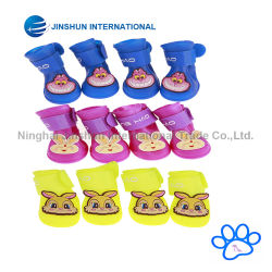 Dog Candy Colors Boots Waterproof Rubber Pet Rain Shoes Booties