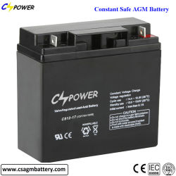 12V 17/18ah DC Solar AGM Deep Cycle Battery with 8 - 12 Years Lifetime