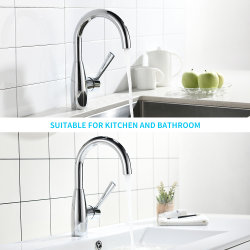 360 Rotation Single Handle temperature Adjust Faucet Tap