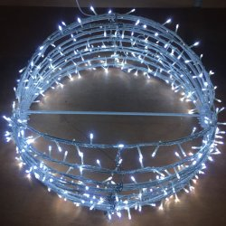 3d led christmas round ball motif light
