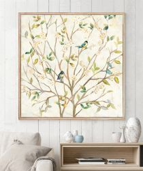Oil Paintings Set of 4 Cute Birds Art Beautiful Wall Art Lacquer Art Wall Pictures Ol-202077 Size 12X12 Inches X 4 PCS in a Set