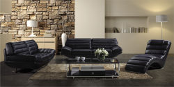 Best Selling Italy Modern Genuine Leather Sofa (1+2+3)