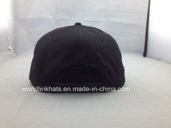 Hip Pop Snapback Cap with 3D Embroidery Logo Design