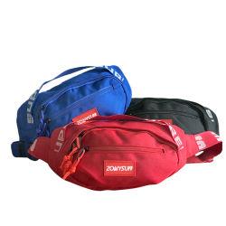 Waist Bag, Wholesale Customized Fashion Oxford Fabric Polyster Outdoor Sports Running Hiking Fanny Pack with Secret Pocket Belt Backpack Shoulder Bag