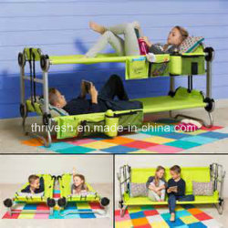 Portable Bunk Bed Cots for Children Foldaway Childrens' Bunk Beds