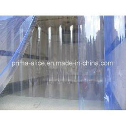 PVC Strip Curtains with Ribbed and Smooth Side