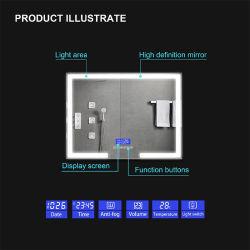 China OEM Custom High Quality 25mm Silver Make up Bathroom Illuminated LED Mirror Manufacturer