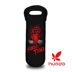 Wine Carrier, Durable Neoprene Single Bottle Wine Tote Bag Water Bottle Bag Red Tiger Pattern
