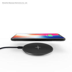 Portable Mini Qi Fast Wireless Charger Pad for iPhone8X Samsung Mobile Phone Charger