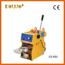 CS-F02s Manual Digital Apple Juice Soybean Milk Cup Sealing Machine for Sale